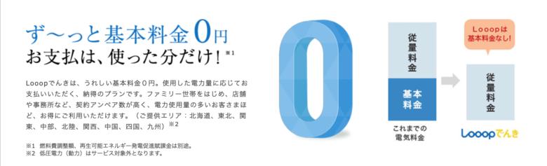 Looopでんき 基本料金0円