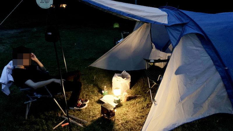 グリーンパーク山東 フリーサイトの夜